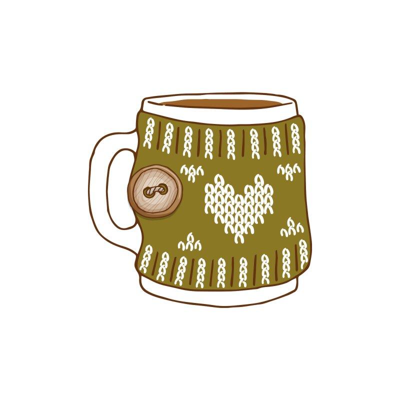 Cozy Green Mugs Accessories Zip Pouch by MiaValdez's Artist Shop