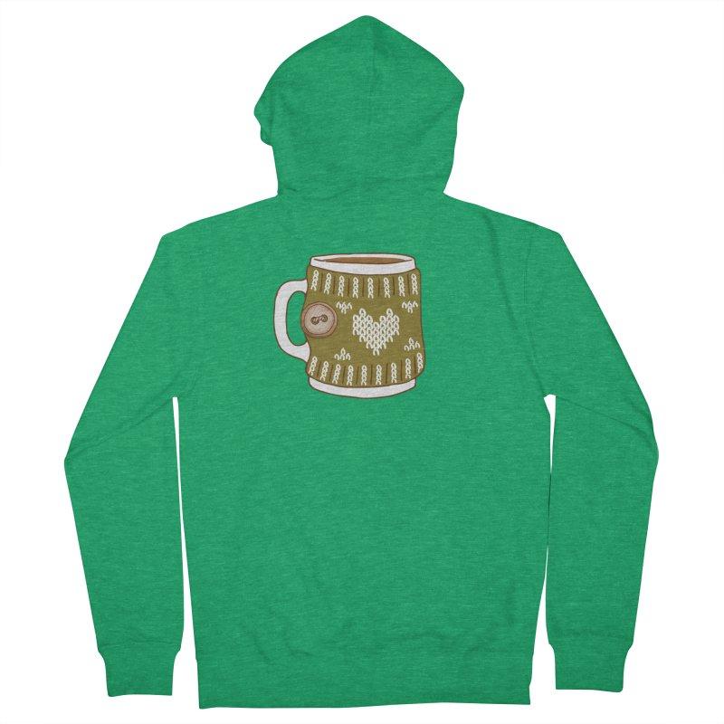 Cozy Green Mugs Women's Zip-Up Hoody by MiaValdez's Artist Shop