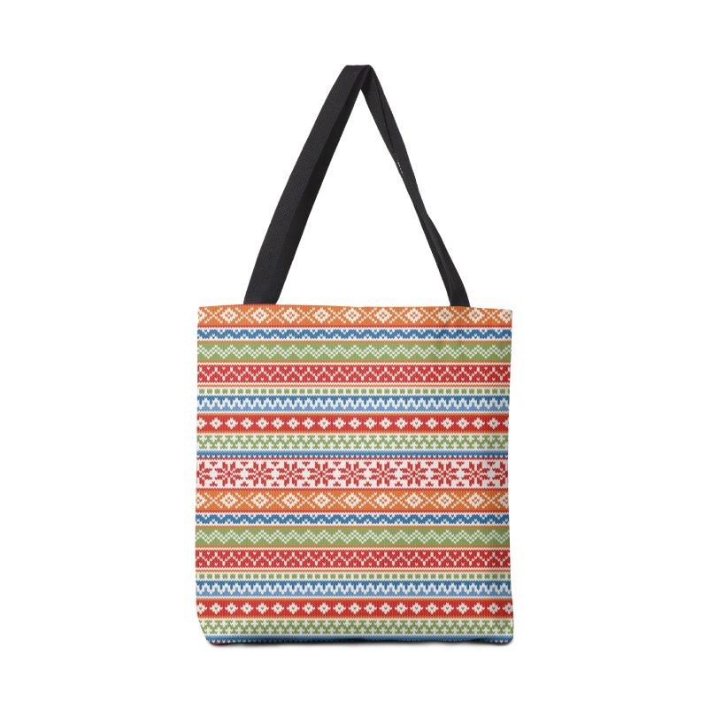 Fair Isle Multicolor Accessories Bag by MiaValdez's Artist Shop