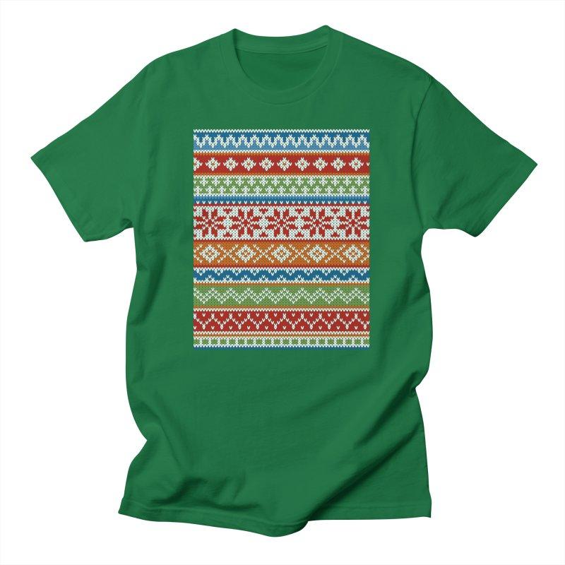 Fair Isle Multicolor Men's T-Shirt by MiaValdez's Artist Shop