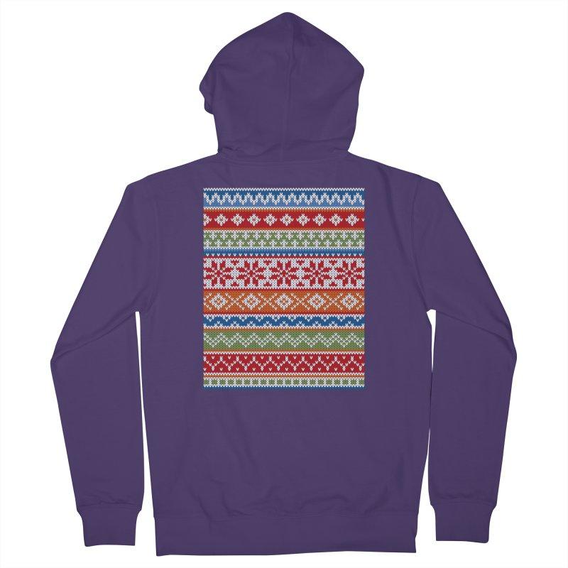 Fair Isle Multicolor Women's Zip-Up Hoody by MiaValdez's Artist Shop