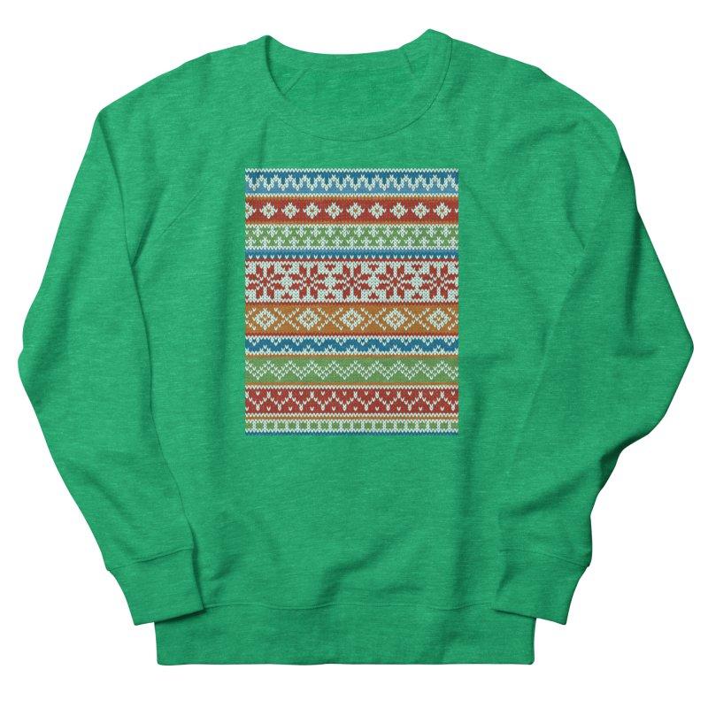 Fair Isle Multicolor Women's Sweatshirt by MiaValdez's Artist Shop