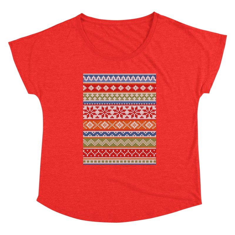 Fair Isle Multicolor Women's Scoop Neck by MiaValdez's Artist Shop