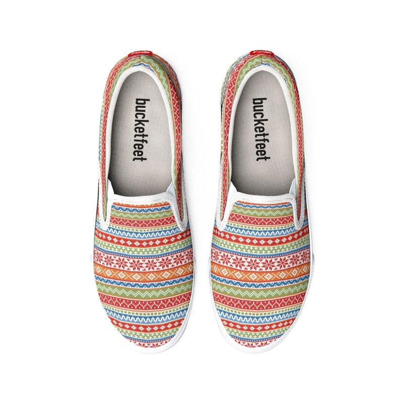 Fair Isle Multicolor Women's Shoes by MiaValdez's Artist Shop