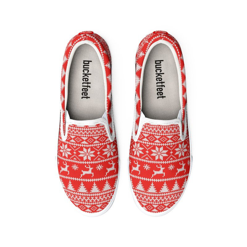 Fair Isle Christmas Women's Shoes by MiaValdez's Artist Shop