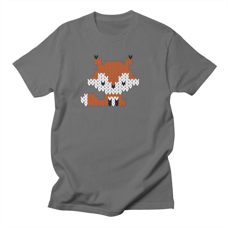 Fair Isle Fox - Green Women's T-Shirt by MiaValdez's Artist Shop