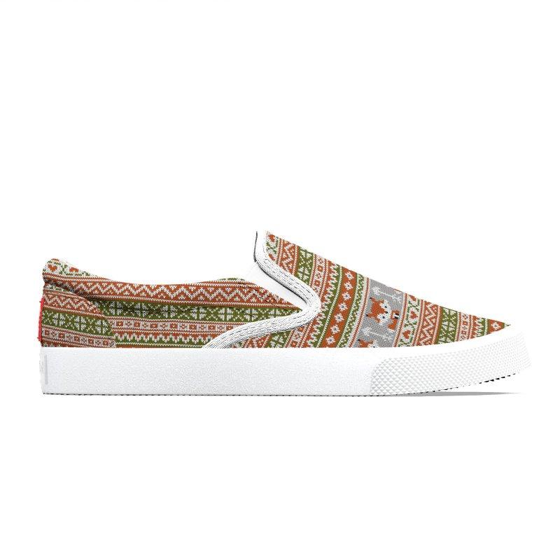 Fair Isle Fox - Green Women's Shoes by MiaValdez's Artist Shop