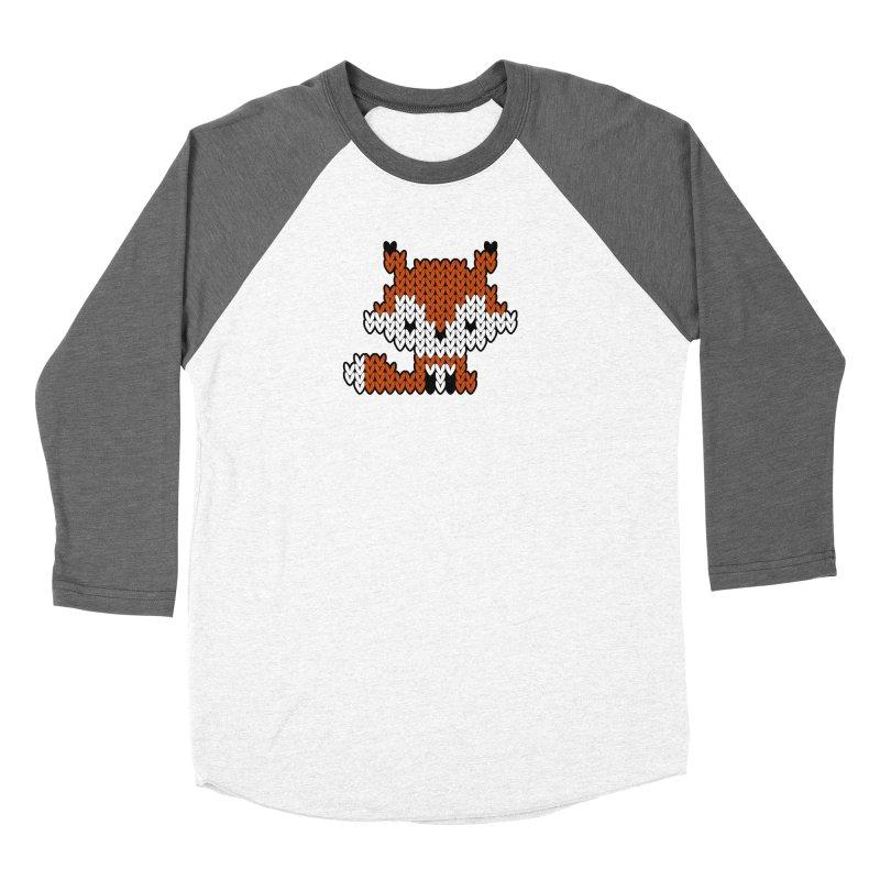 Fair Isle Fox - Gray Women's Longsleeve T-Shirt by MiaValdez's Artist Shop