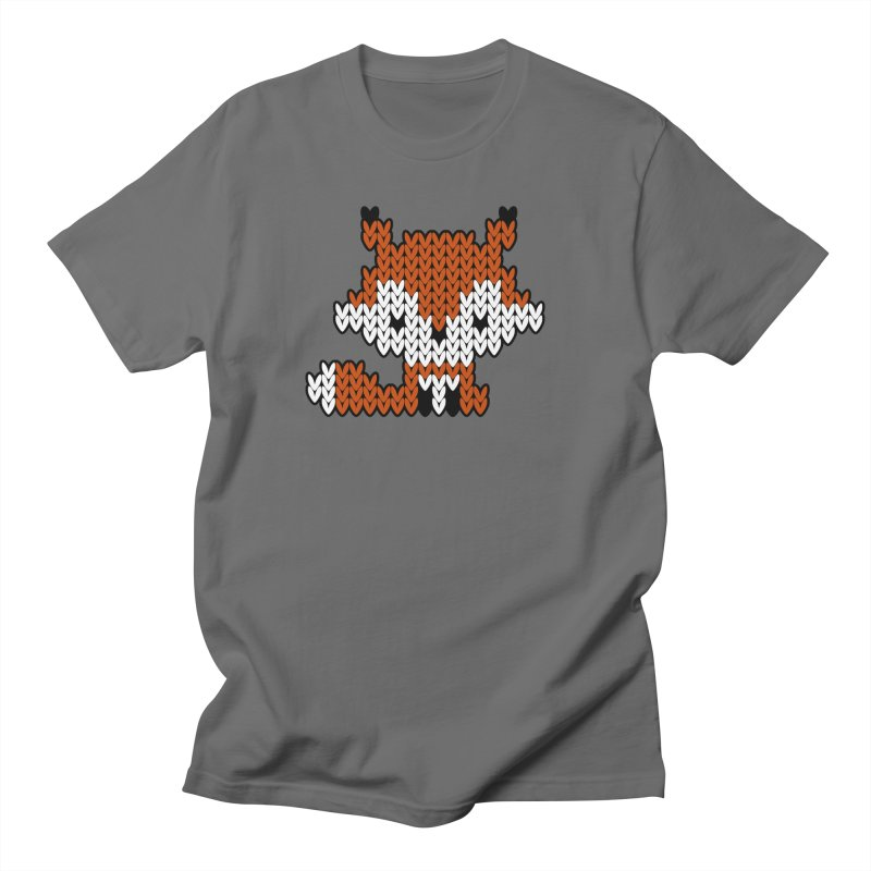 Fair Isle Fox - Gray Men's T-Shirt by MiaValdez's Artist Shop