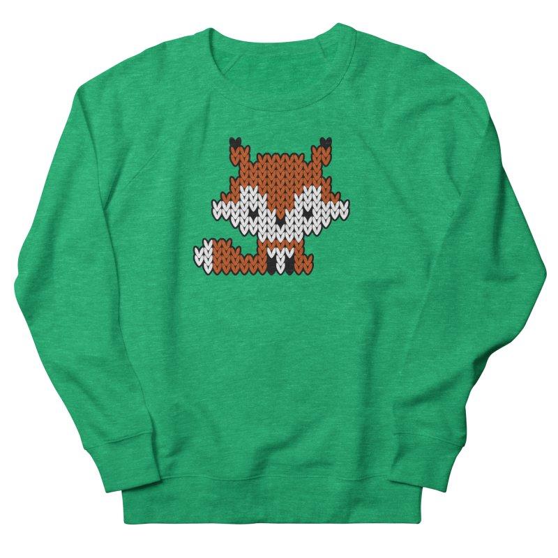 Fair Isle Fox - Gray Women's Sweatshirt by MiaValdez's Artist Shop