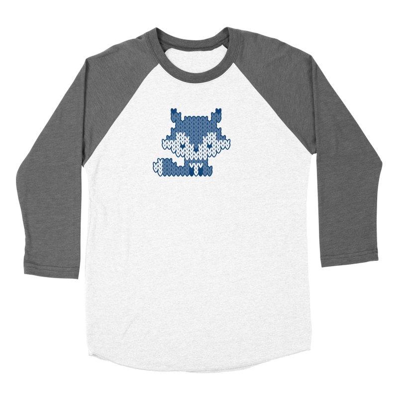 Fair Isle Fox Blue - White Women's Longsleeve T-Shirt by MiaValdez's Artist Shop