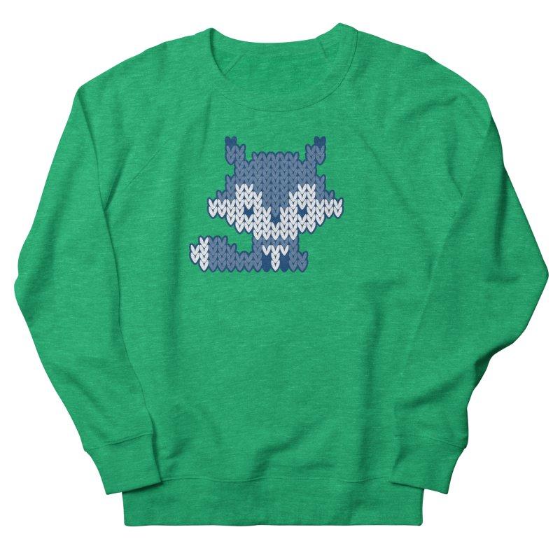 Fair Isle Fox Blue - White Women's Sweatshirt by MiaValdez's Artist Shop
