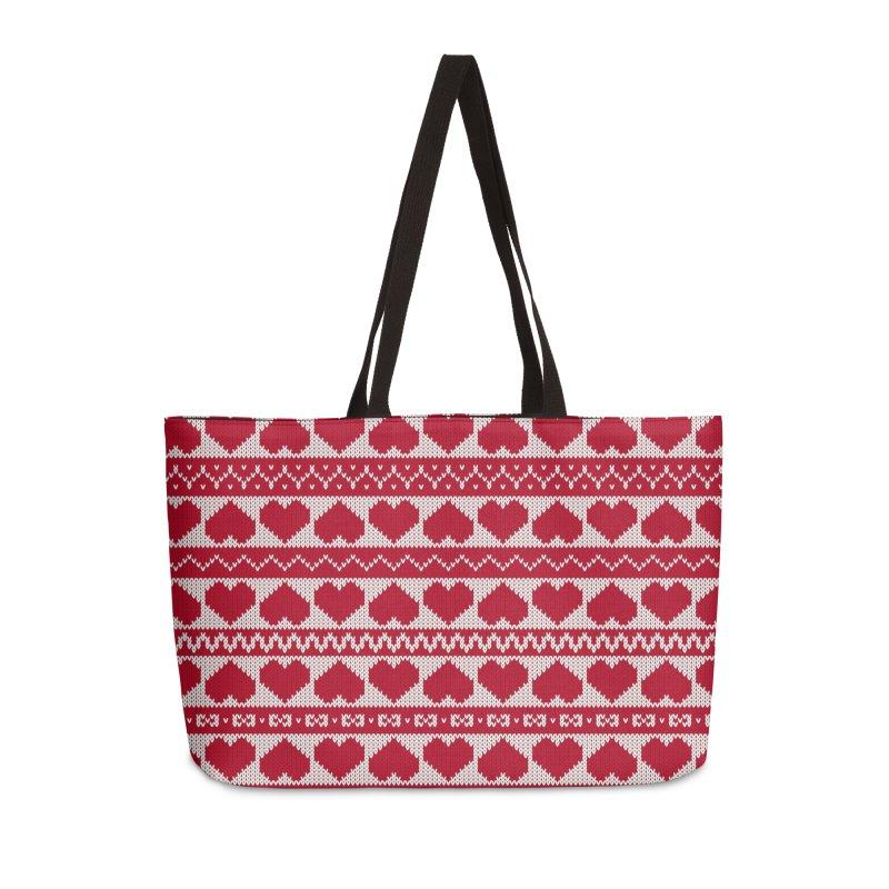 Fair Isle Valentines's Day Accessories Bag by MiaValdez's Artist Shop