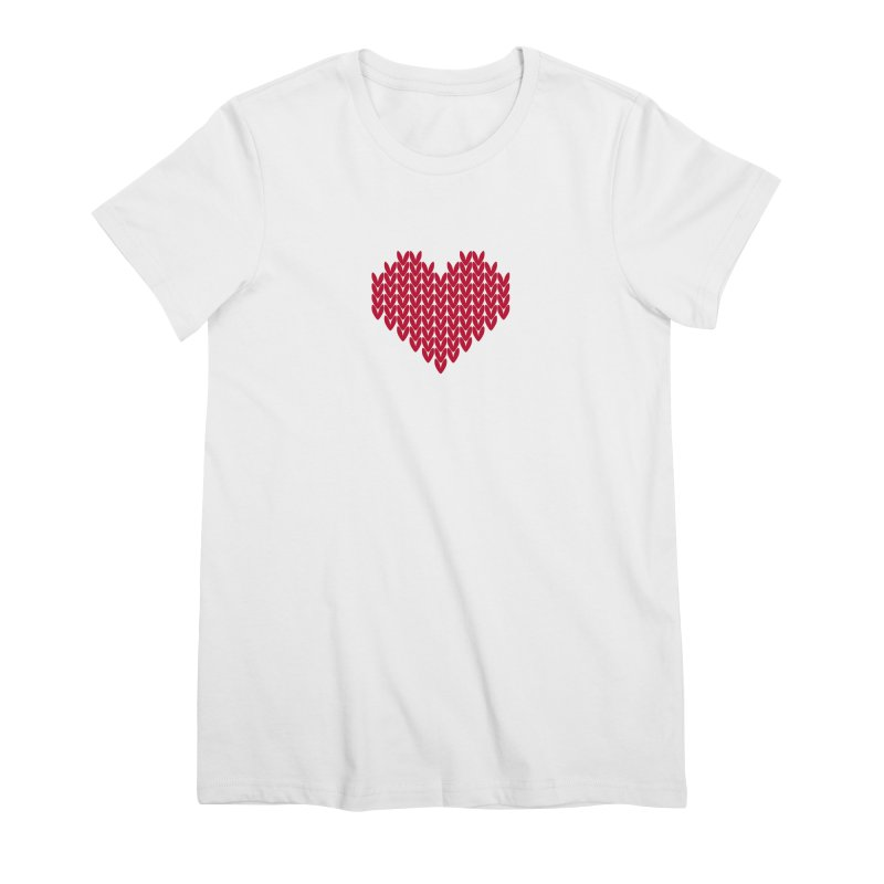 Fair Isle Valentines's Day Women's T-Shirt by MiaValdez's Artist Shop