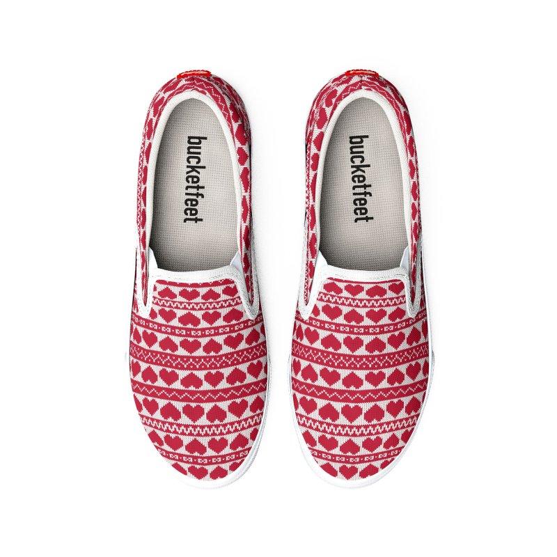 Fair Isle Valentines's Day Women's Shoes by MiaValdez's Artist Shop