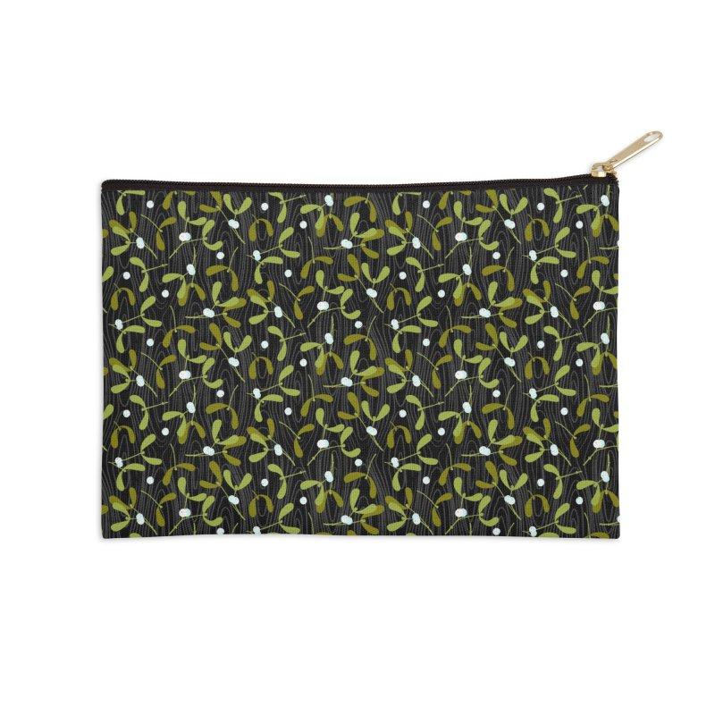 Rustic Mistletoe Accessories Zip Pouch by MiaValdez's Artist Shop