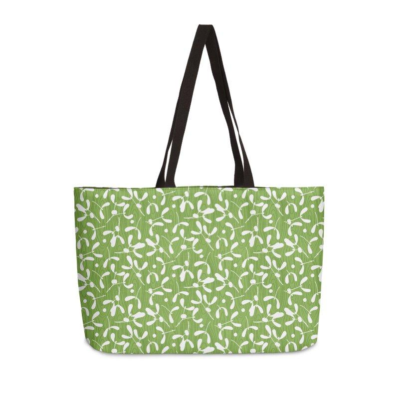 Rustic Mistletoe - Greenery Accessories Bag by MiaValdez's Artist Shop
