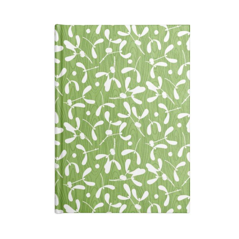 Rustic Mistletoe - Greenery Accessories Notebook by MiaValdez's Artist Shop
