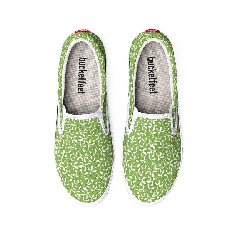 Rustic Mistletoe - Greenery Women's Shoes by MiaValdez's Artist Shop