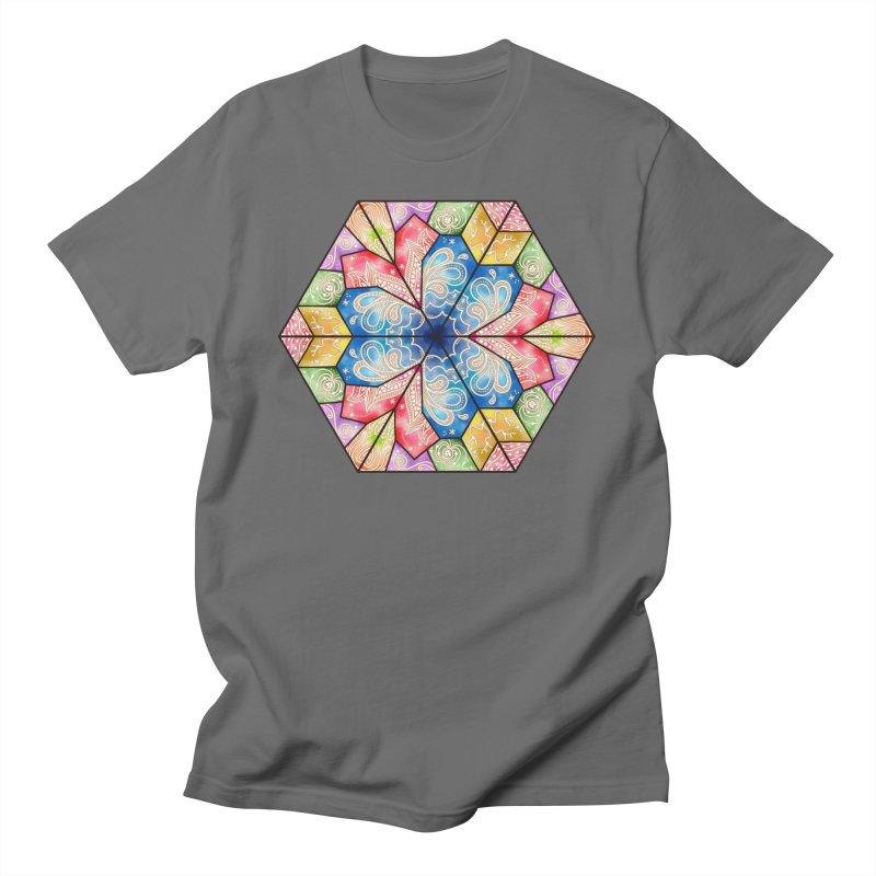 7 Elements - Stained Glass Men's T-Shirt by MiaValdez's Artist Shop
