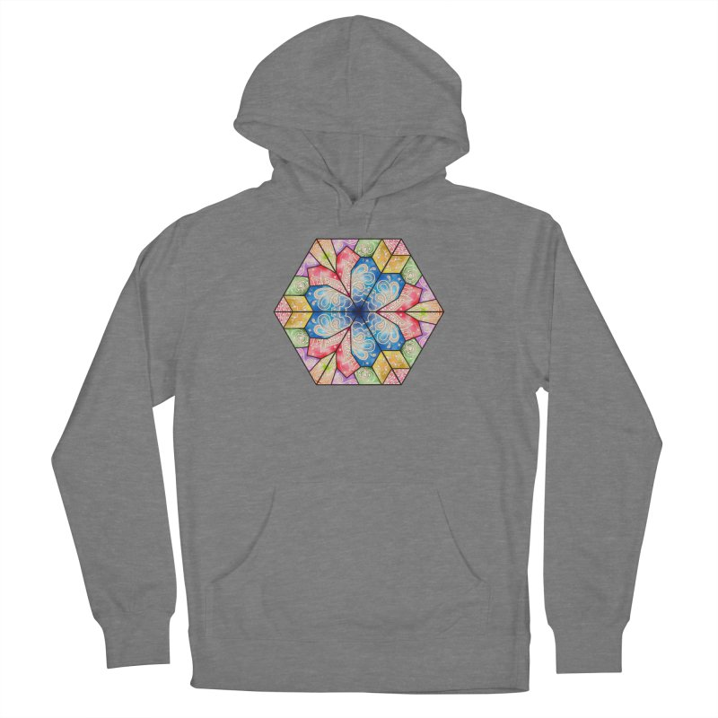 7 Elements - Stained Glass Women's Pullover Hoody by MiaValdez's Artist Shop