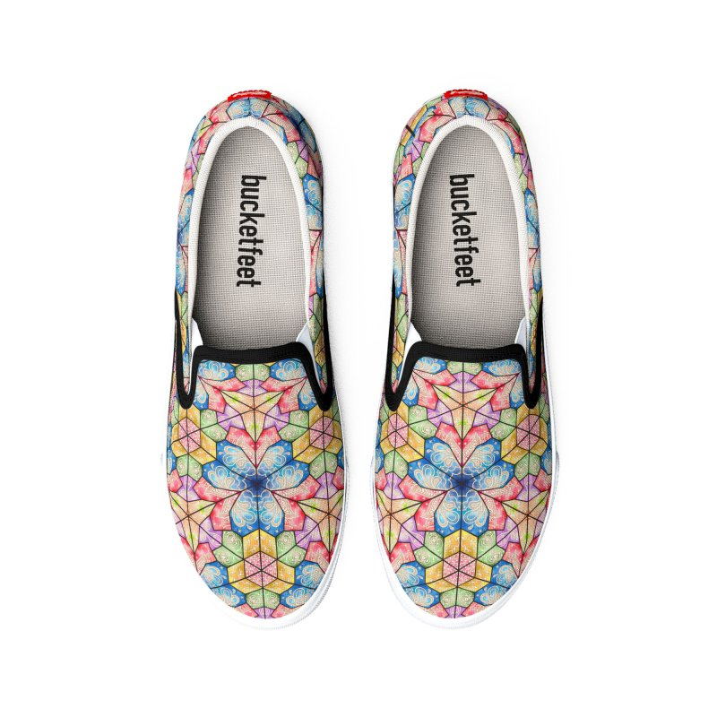 7 Elements - Stained Glass Women's Shoes by MiaValdez's Artist Shop