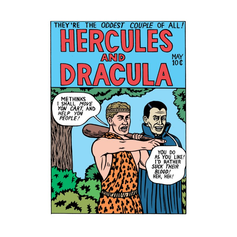 Hercules & Dracula by Michael Kupperman's Artist Shop