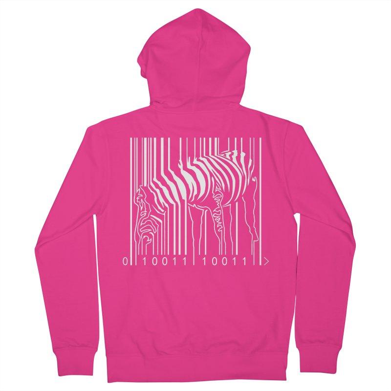 Zebra Barcode Men's Zip-Up Hoody by Mike's Artist Shop