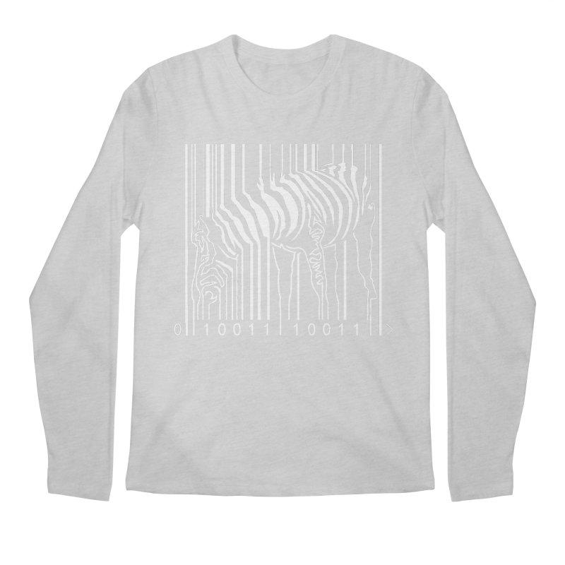 Zebra Barcode Men's Longsleeve T-Shirt by Mike's Artist Shop