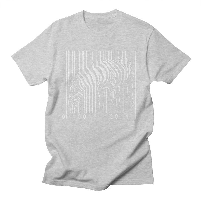 Zebra Barcode Men's T-Shirt by Mike's Artist Shop