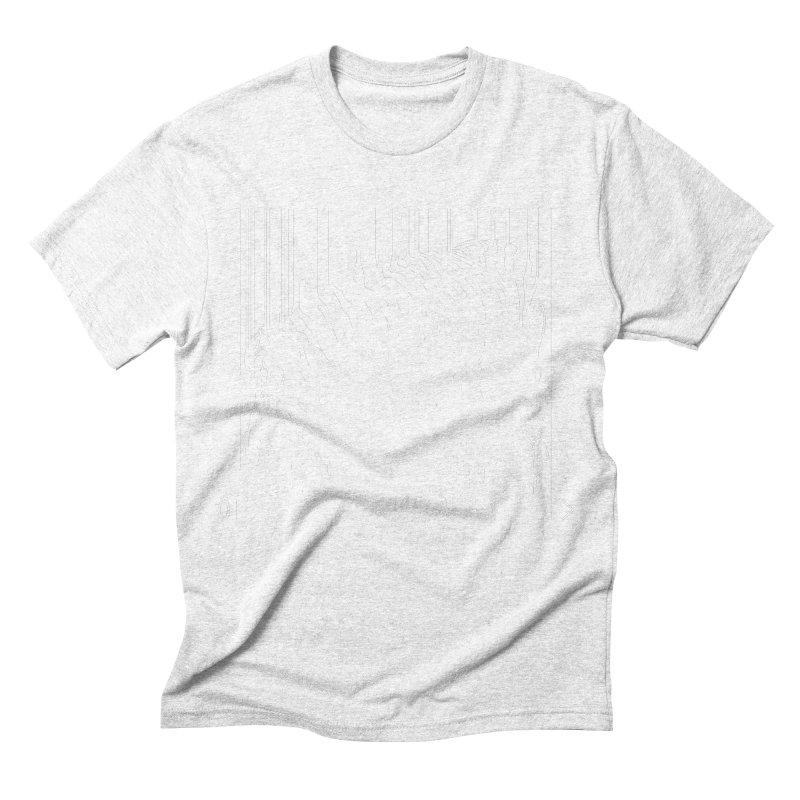 Zebra Barcode Men's Triblend T-shirt by Mike's Artist Shop