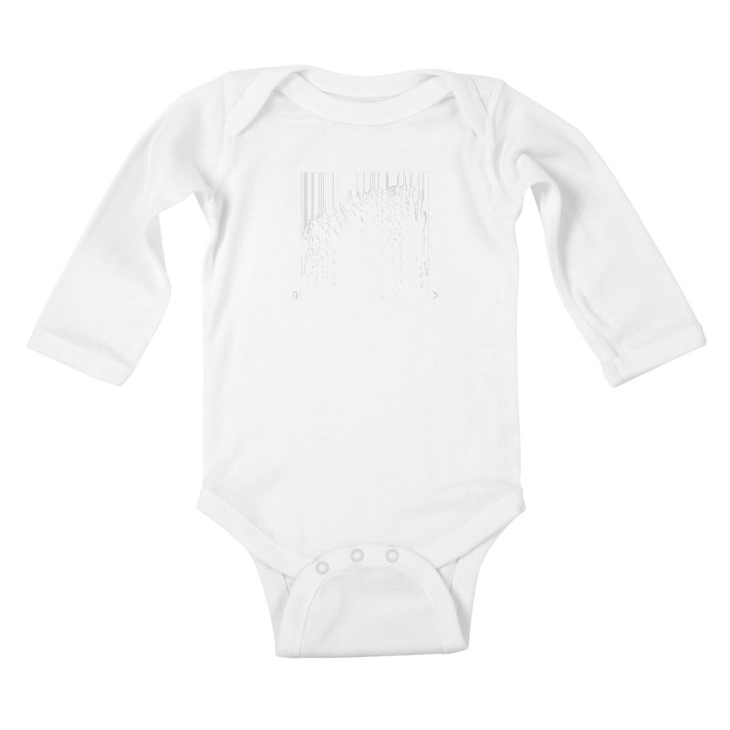 Zebra Barcode Kids Baby Longsleeve Bodysuit by Mike's Artist Shop