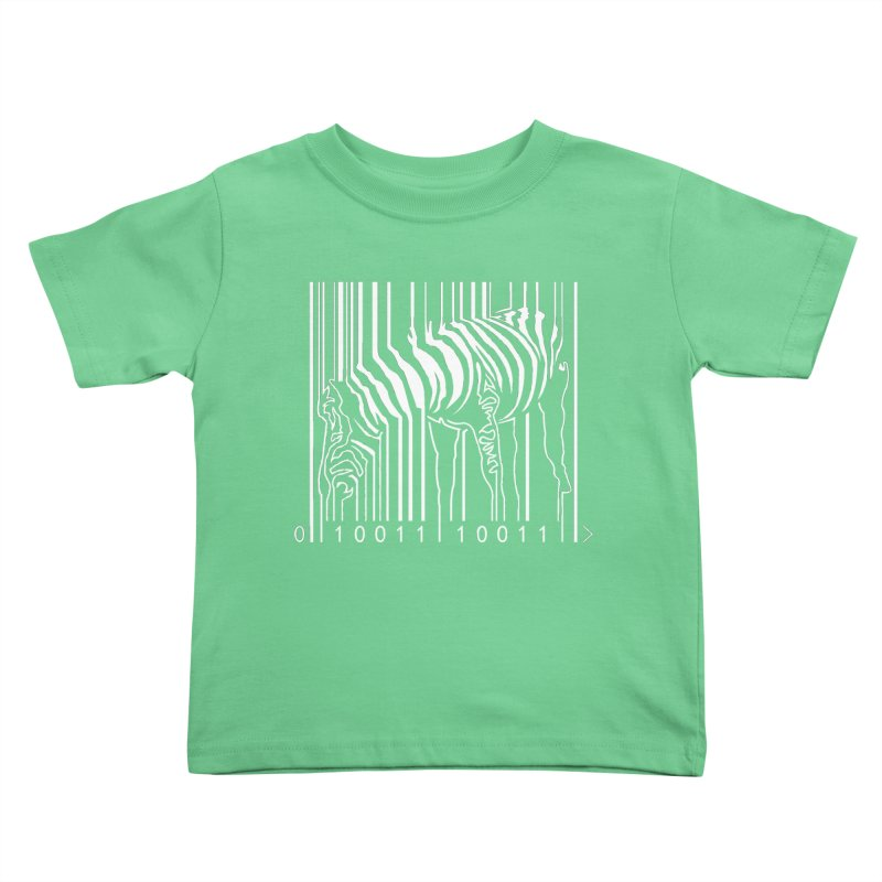 Zebra Barcode Kids Toddler T-Shirt by Mike's Artist Shop