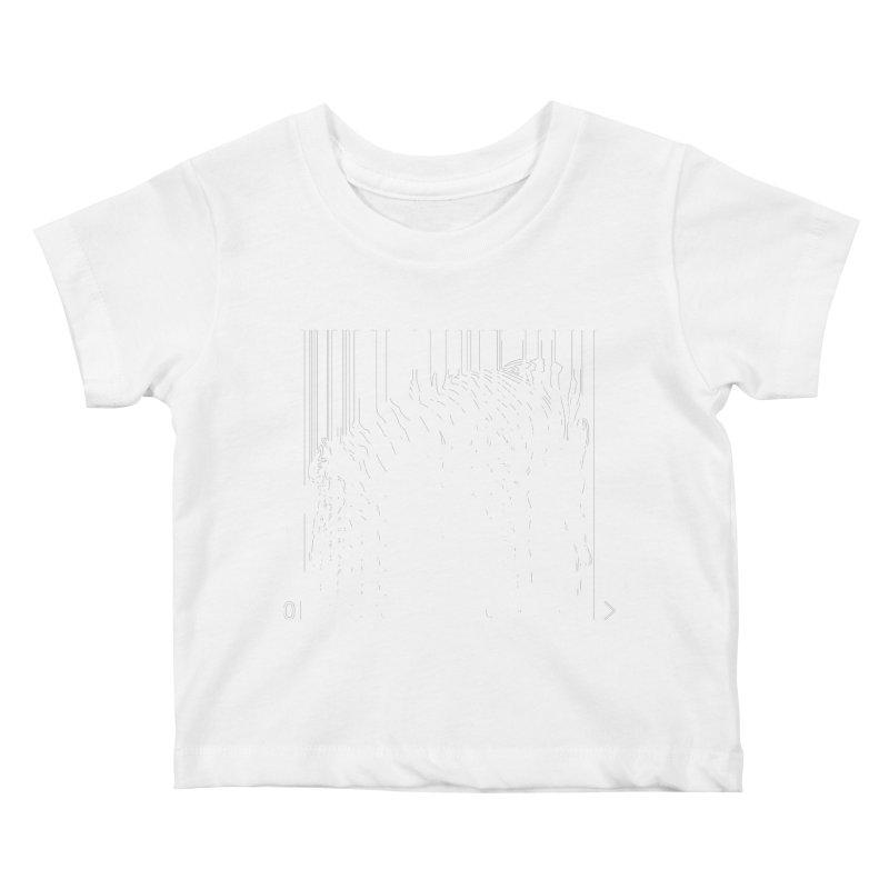 Zebra Barcode Kids Baby T-Shirt by Mike's Artist Shop