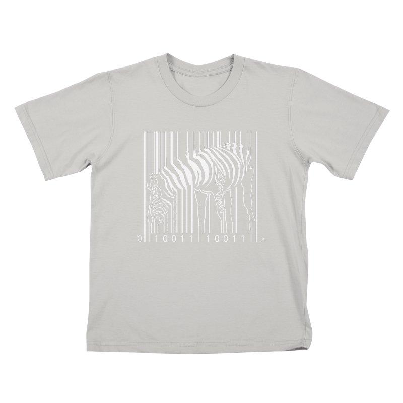 Zebra Barcode Kids T-Shirt by Mike's Artist Shop