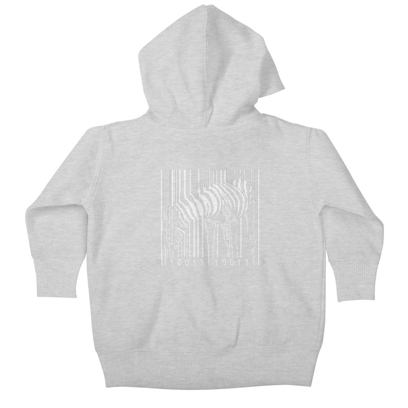 Zebra Barcode Kids Baby Zip-Up Hoody by Mike's Artist Shop