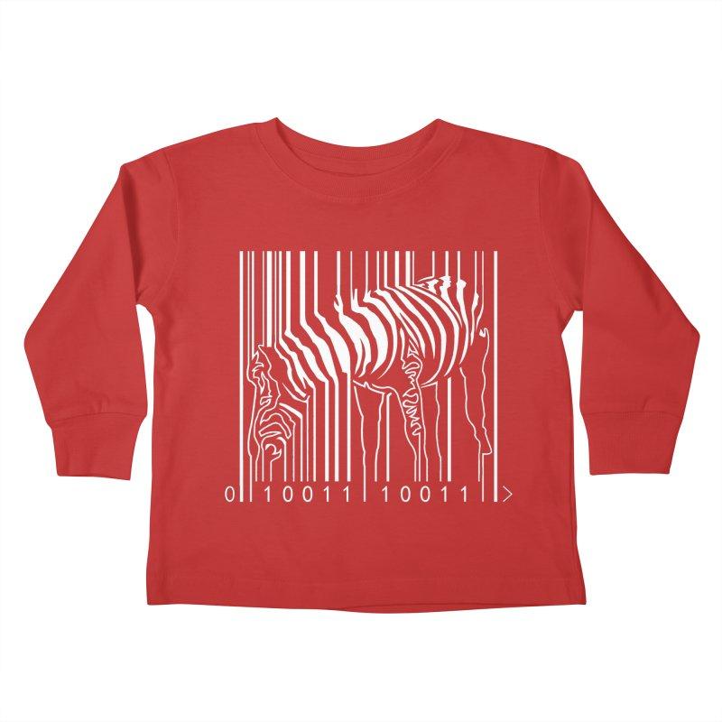 Zebra Barcode Kids Toddler Longsleeve T-Shirt by Mike's Artist Shop