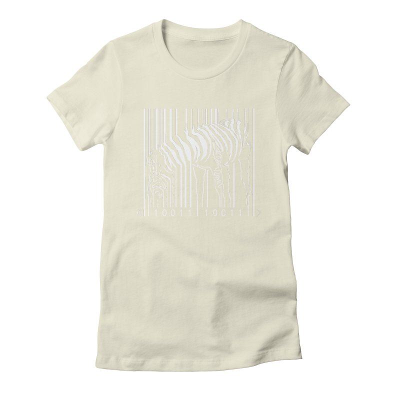 Zebra Barcode Women's Fitted T-Shirt by Mike's Artist Shop