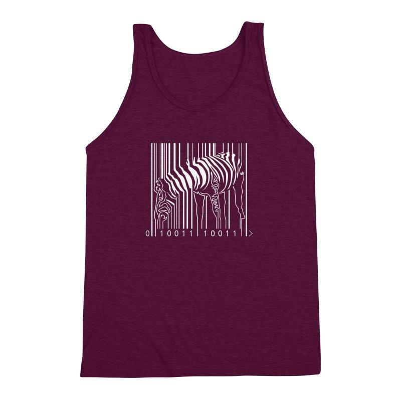 Zebra Barcode Men's Triblend Tank by Mike's Artist Shop