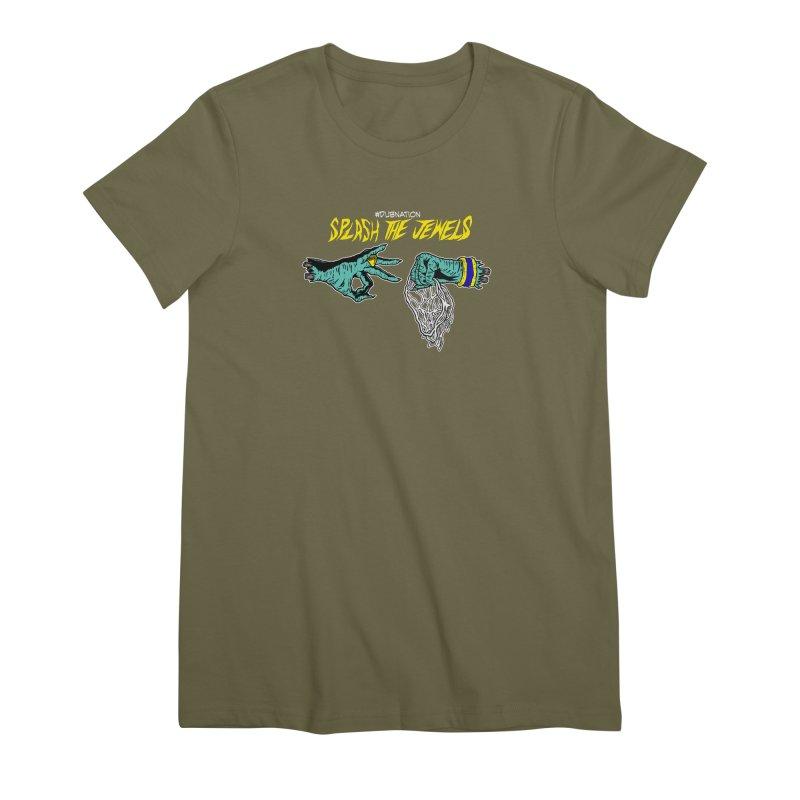 Splash The Jewels Women's Premium T-Shirt by Mike Hampton's T-Shirt Shop