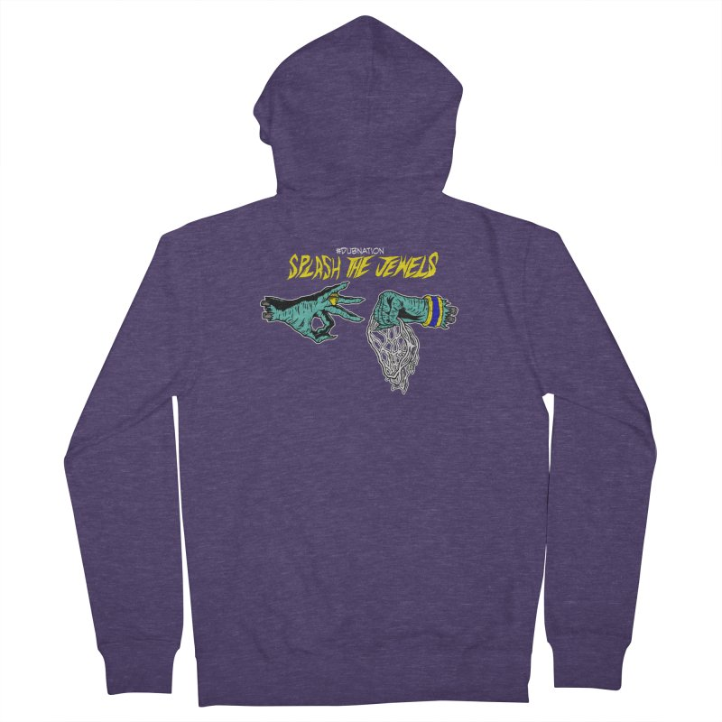 Splash The Jewels Men's French Terry Zip-Up Hoody by Mike Hampton's T-Shirt Shop