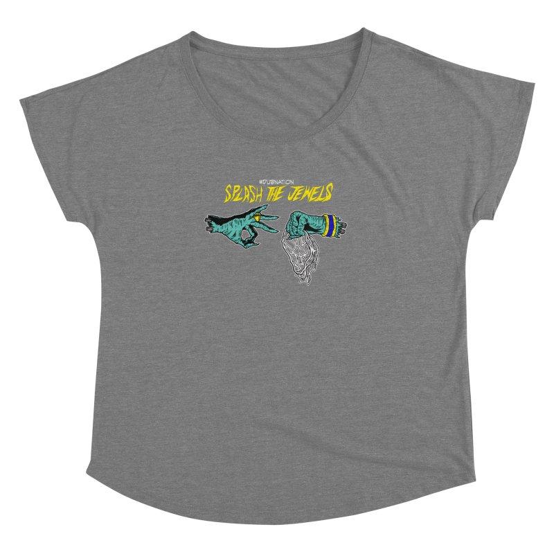 Splash The Jewels Women's Scoop Neck by Mike Hampton's T-Shirt Shop