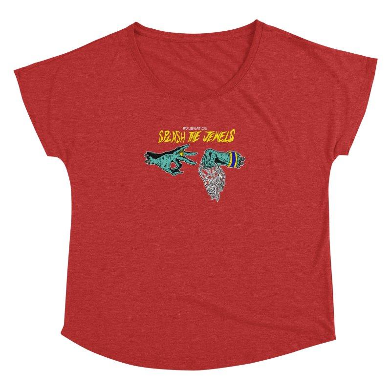 Splash The Jewels Women's Dolman Scoop Neck by Mike Hampton's T-Shirt Shop