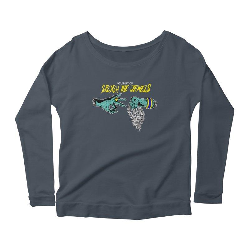 Splash The Jewels Women's Scoop Neck Longsleeve T-Shirt by Mike Hampton's T-Shirt Shop