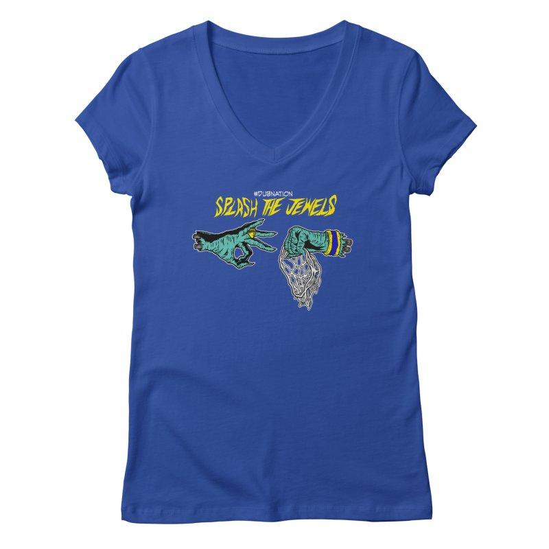 Splash The Jewels Women's V-Neck by Mike Hampton's T-Shirt Shop
