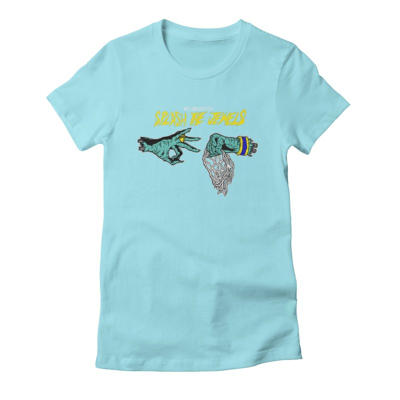 Splash The Jewels Women's Fitted T-Shirt by Mike Hampton's T-Shirt Shop