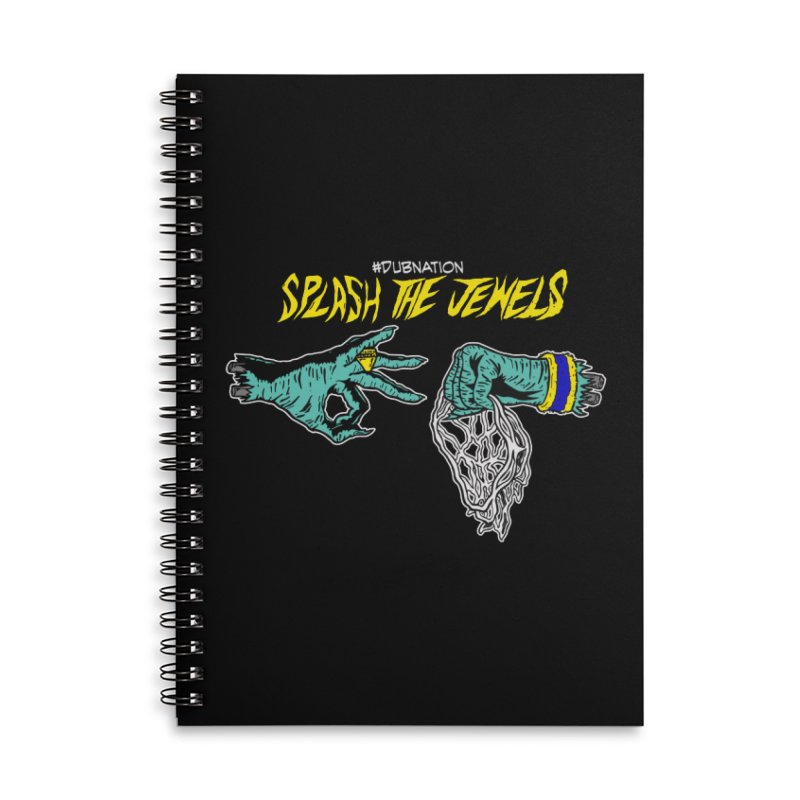 Splash The Jewels Accessories Lined Spiral Notebook by Mike Hampton's T-Shirt Shop