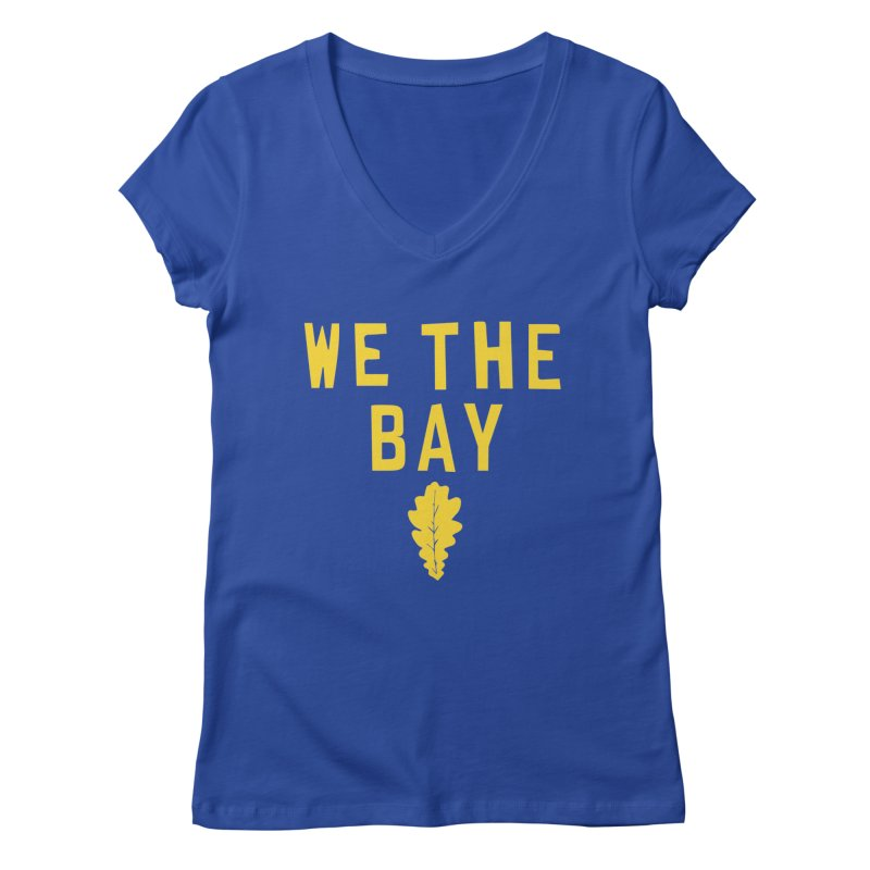 We The Bay Women's Regular V-Neck by Mike Hampton's T-Shirt Shop