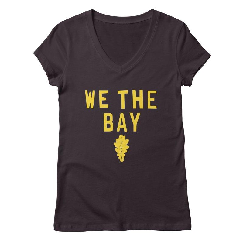 We The Bay Women's Regular V-Neck by Mike Hampton's T-Shirt Shop