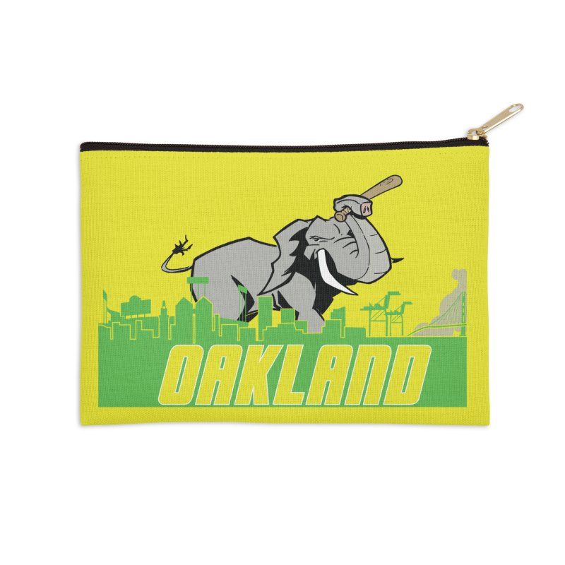 Oakland Accessories Zip Pouch by Mike Hampton's T-Shirt Shop